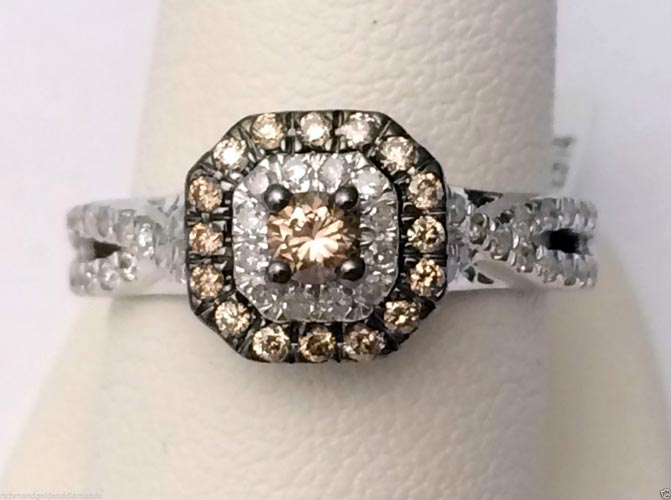 larger view - Chocolate Diamonds Wedding Rings